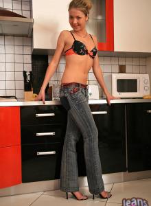 Wondeful beauties wearing jeans