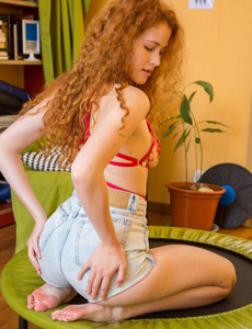 Hot girl has amazing ass in tight jeans shorts and exciting see-through underwear under
