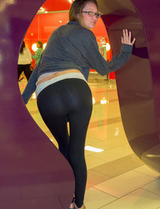 Sexy young angel wears tight black pants